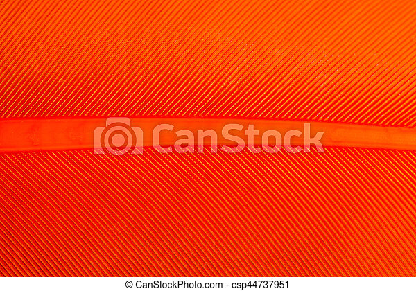 Bright Orange Bird Feather Pattern Macro for Backgrounds - csp44737951