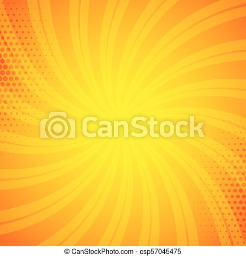 bright orange comic book background - csp57045475