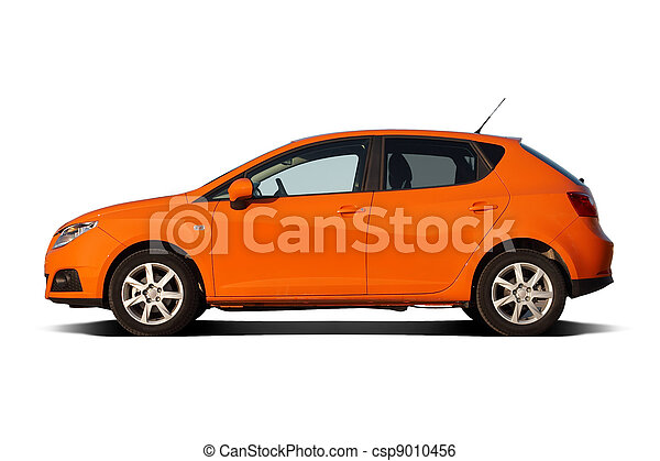 Bright orange compact family hatchback - csp9010456