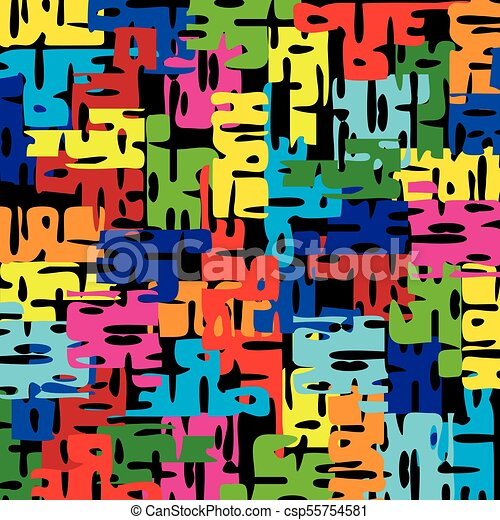 Bright Pattern Of Puzzle Pieces Summer Background For Decoration Of
