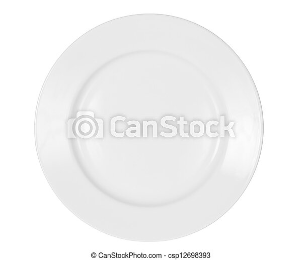 bright plate isolated on white included - csp12698393
