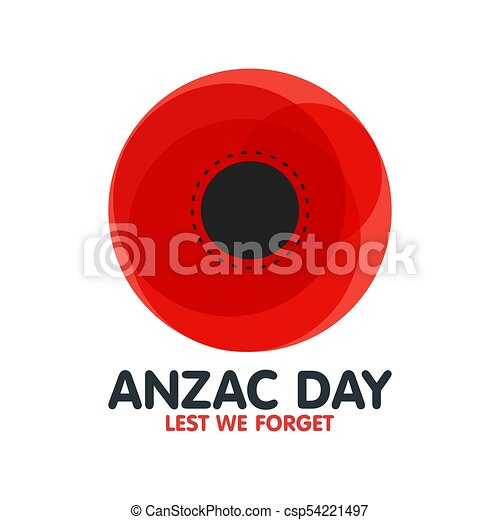 Bright poppy flower remembrance day symbol anzac day in australia bright poppy flower remembrance day symbol anzac day in australia lest we forget vector illustration mightylinksfo