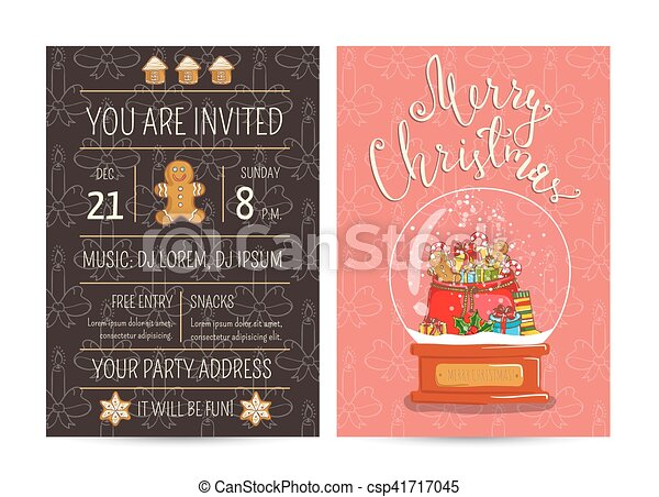Bright promotion flyer for club christmas party invitation on bright promotion flyer for club christmas party csp41717045 stopboris Choice Image