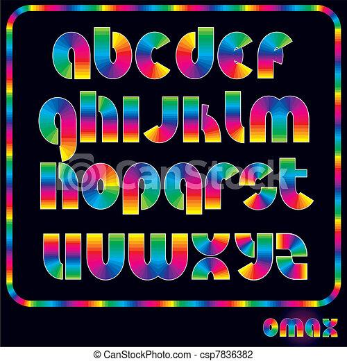 Bright Rainbow Alphabet - csp7836382