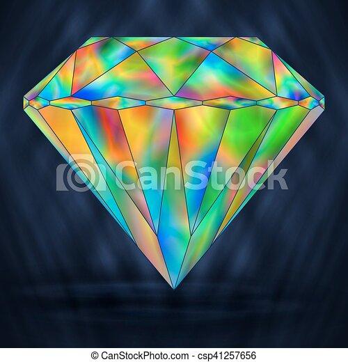 Bright Rainbow Gemstone  Iridescent Crystal Icon