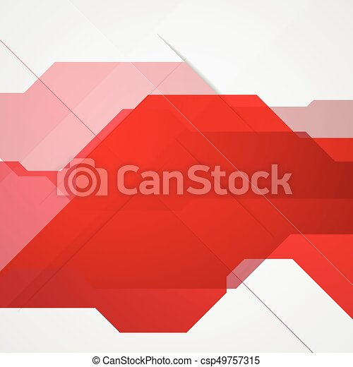 Bright red abstract tech background - csp49757315