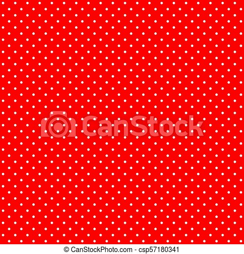 Bright Red And White Retro Design Polka Dots Background Pattern