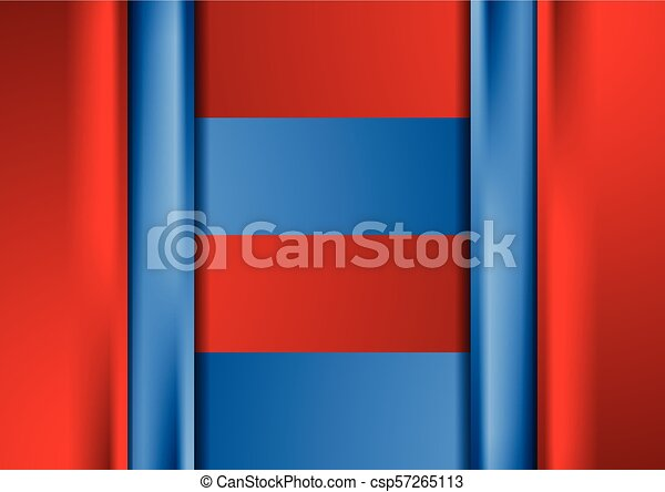 Bright Red Blue Elegant Abstract Corporate Background