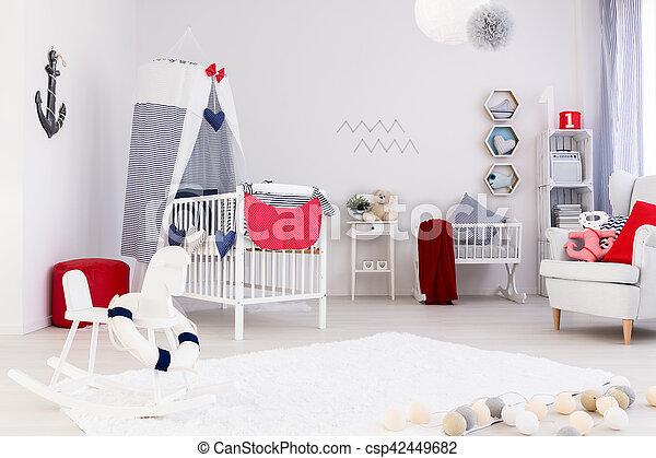 Bright room with crib - csp42449682