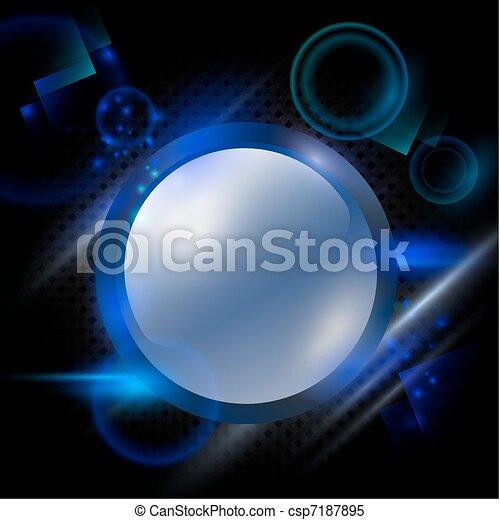bright round frame - csp7187895