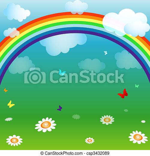 Bright spring background - csp3432089