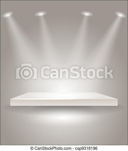 Bright stage with spot lights - csp9318196