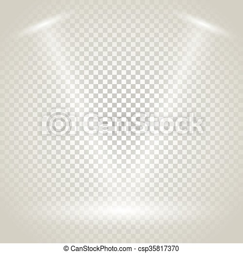 Bright Stage With Spotlights Transparent Background
