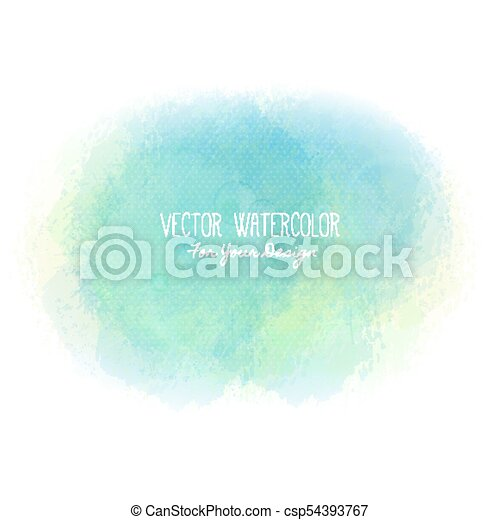 Bright stain. Pseudo watercolor. Paint texture. Colorful daub. It can be used as background for text - csp54393767