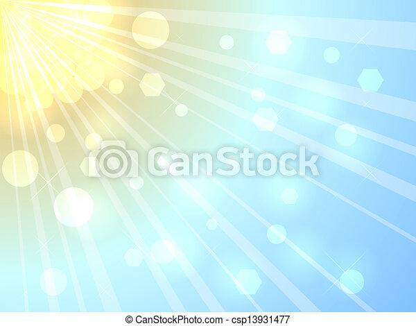 Bright summer sunshine background - csp13931477