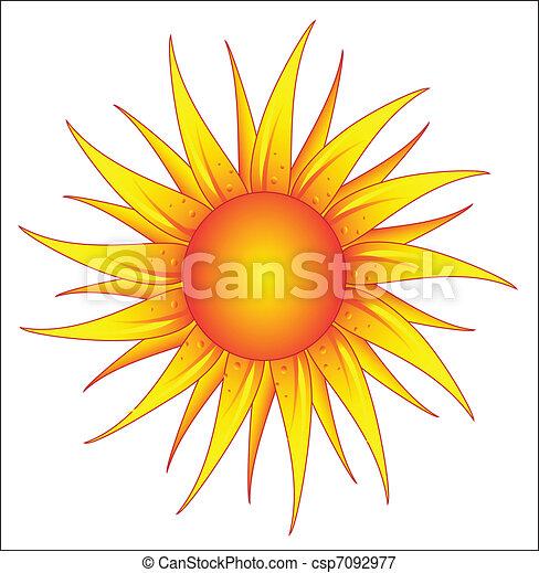 bright sun  - csp7092977