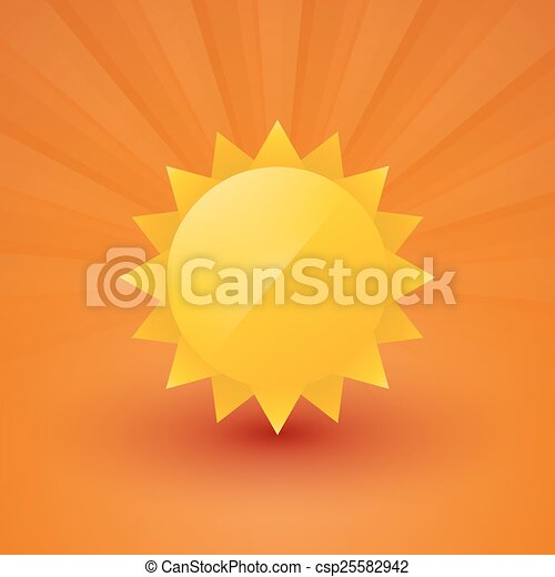 Bright sun with rays - csp25582942