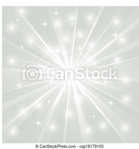 Bright sunburst with sparkles - csp18179103