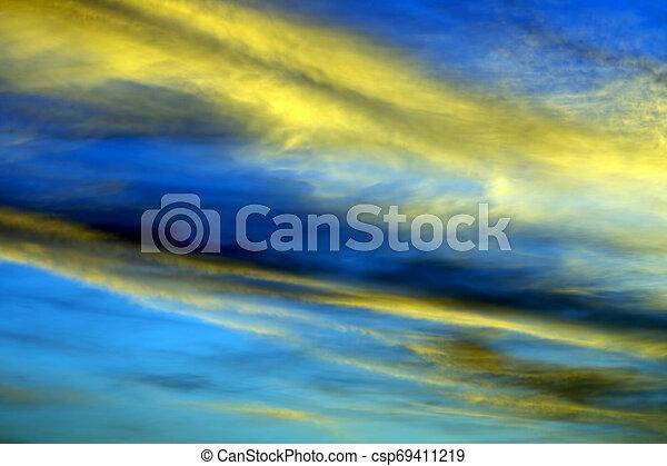 bright sunny dawn in heaven - csp69411219