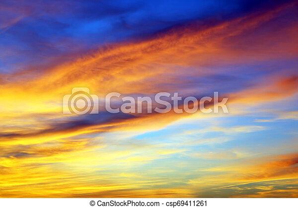 bright sunny dawn in heaven - csp69411261