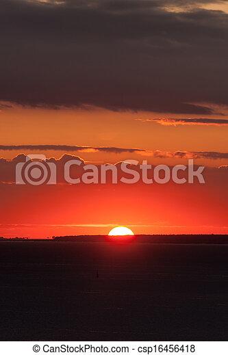 Bright sunset - csp16456418