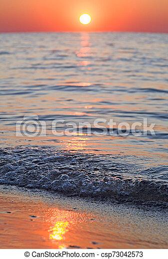 bright sunset - csp73042573