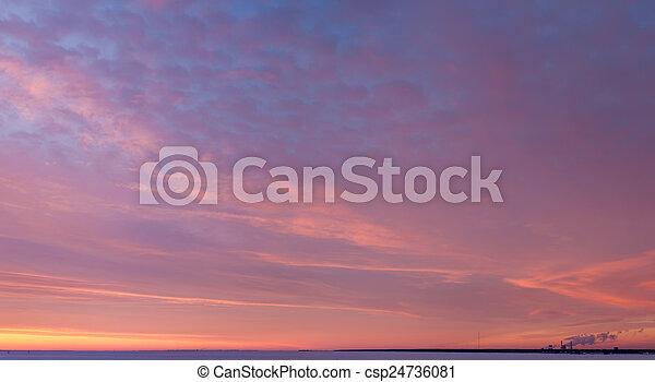 bright sunset - csp24736081