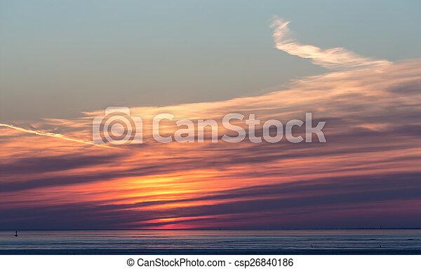 bright sunset - csp26840186