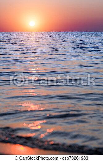 bright sunset - csp73261983