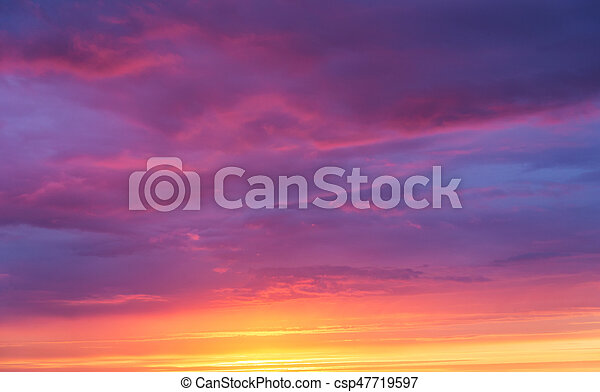 bright sunset sky - csp47719597