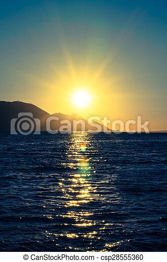bright sunset - csp28555360