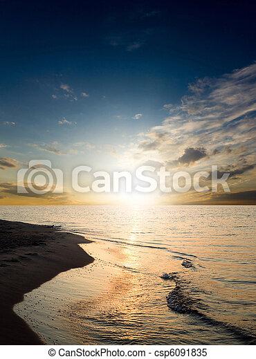 Bright sunset - csp6091835