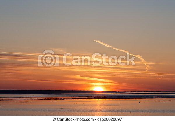 bright sunset - csp20020697