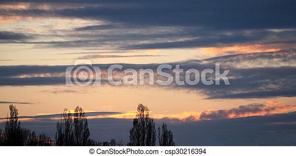 bright sunset - csp30216394
