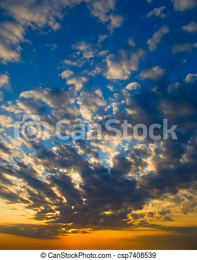 bright sunset - csp7408539