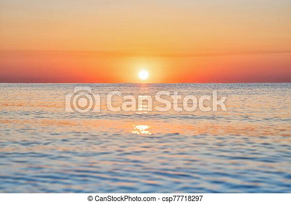 bright sunset - csp77718297