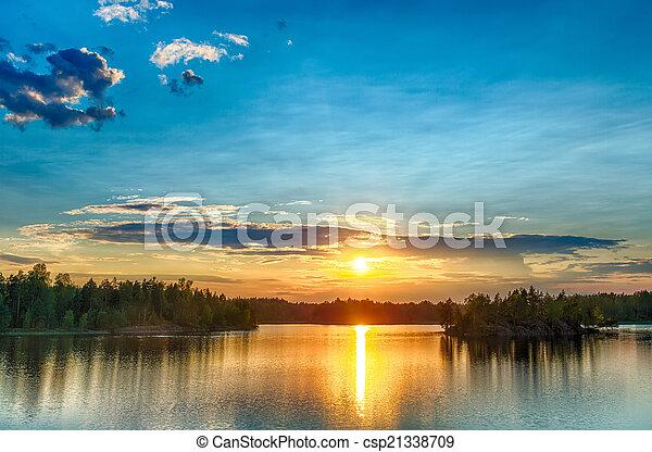 bright sunset - csp21338709