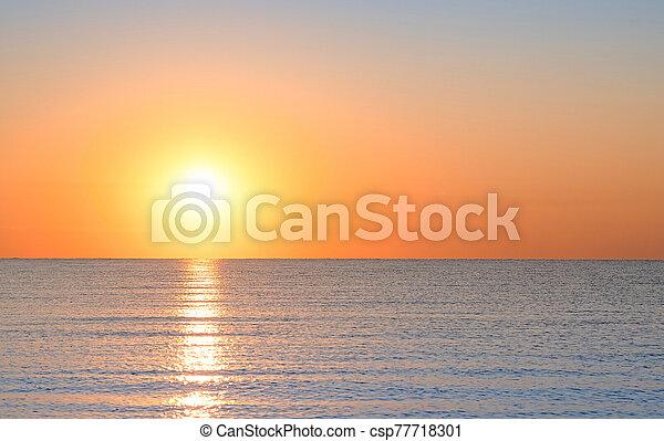 bright sunset - csp77718301