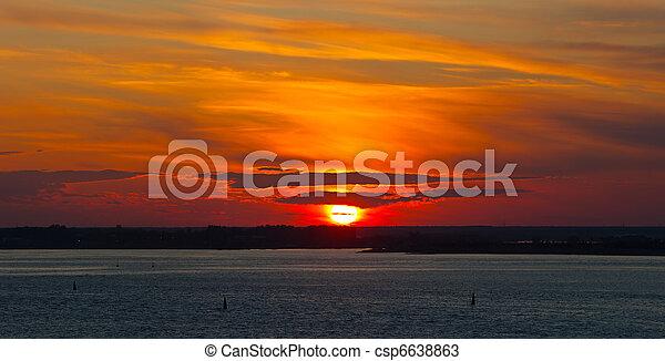 Bright sunset - csp6638863