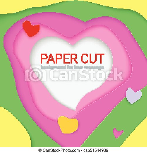 Bright Templates With Paper Cut Shapes Modern Abstract Design 3d Illustration For Greeting Card Or