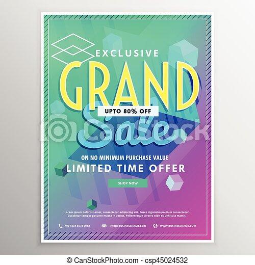 bright vector sale banner design template - csp45024532