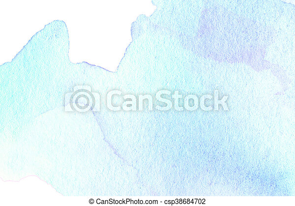 Bright watercolor stain with water colour paint stroke. - csp38684702