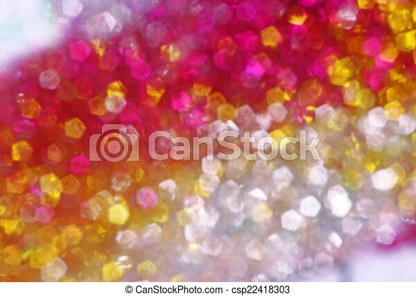 Bright yellow and pink spots as abstract background - csp22418303