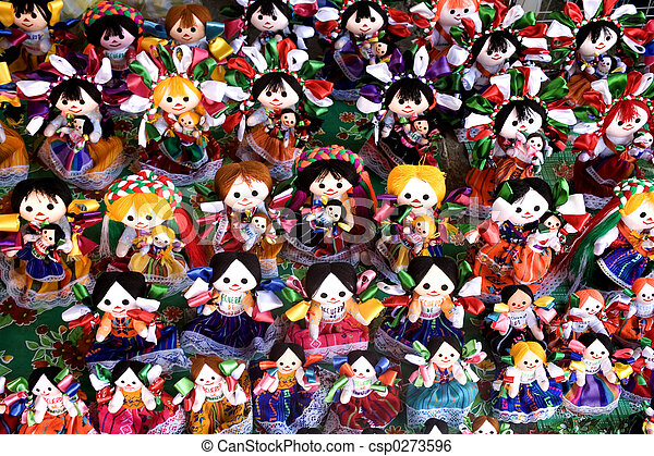 Brightly Colored Dolls - csp0273596
