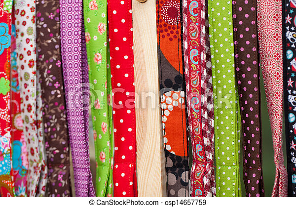 Brightly coloured textiles - csp14657759