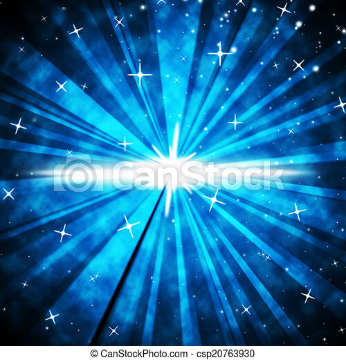 Brightness Background Means Luminous Rays And Night Sky  - csp20763930