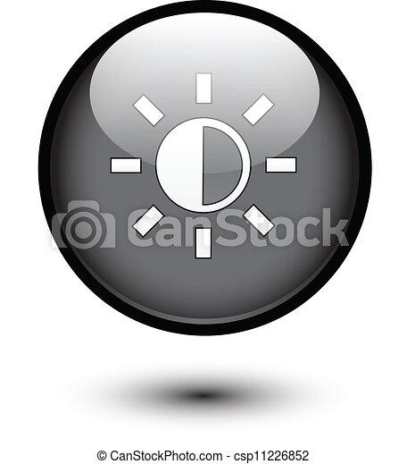 Brightness icon on black - csp11226852