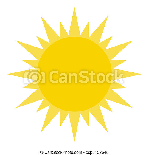 brilhar, sol, amarela - csp5152648