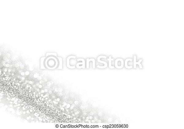 brillant, argent, fond, defocused - csp23059630