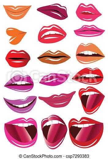 brillant, lèvres, kit - csp7293383